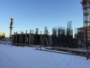 Город Долгопрудный, микрорайон «Центральный», корпус 17 (январь 2017, фото 1-2)