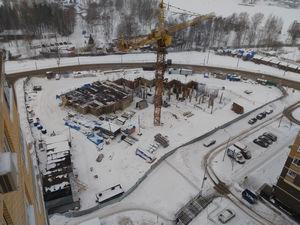 Город Долгопрудный, ЖК «Московские водники», корпус 24 (январь 2017, фото 2-1)